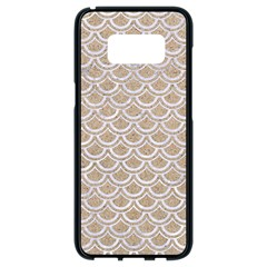 Scales2 White Marble & Sand Samsung Galaxy S8 Black Seamless Case by trendistuff