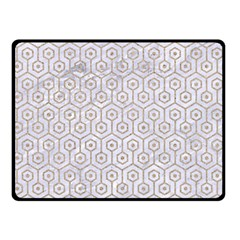 Hexagon1 White Marble & Sand (r) Double Sided Fleece Blanket (small)  by trendistuff