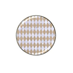 Diamond1 White Marble & Sand Hat Clip Ball Marker (10 Pack) by trendistuff