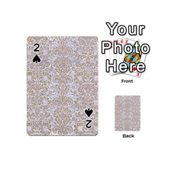 Damask2 White Marble & Sand (r) Playing Cards 54 (mini)  by trendistuff