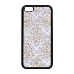 Damask1 White Marble & Sand (r) Apple Iphone 5c Seamless Case (black) by trendistuff