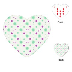 Stars Motif Multicolored Pattern Print Playing Cards (heart)  by dflcprints