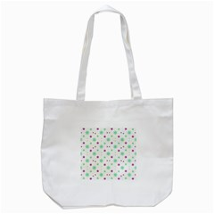 Stars Motif Multicolored Pattern Print Tote Bag (white) by dflcprints