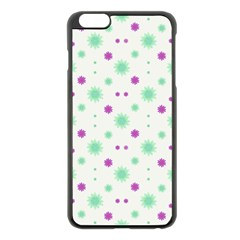 Stars Motif Multicolored Pattern Print Apple Iphone 6 Plus/6s Plus Black Enamel Case by dflcprints