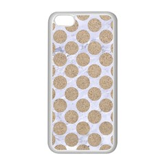 Circles2 White Marble & Sand (r) Apple Iphone 5c Seamless Case (white) by trendistuff