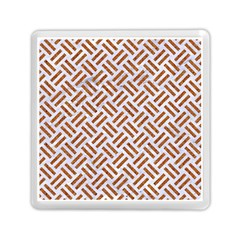 Woven2 White Marble & Rusted Metal (r) Memory Card Reader (square)  by trendistuff