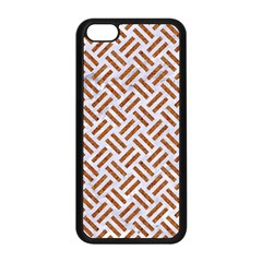 Woven2 White Marble & Rusted Metal (r) Apple Iphone 5c Seamless Case (black) by trendistuff