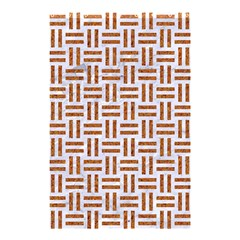 Woven1 White Marble & Rusted Metal (r) Shower Curtain 48  X 72  (small)  by trendistuff