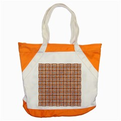 Woven1 White Marble & Rusted Metal Accent Tote Bag by trendistuff