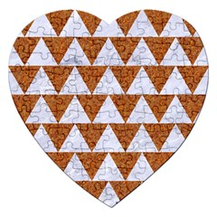 Triangle2 White Marble & Rusted Metal Jigsaw Puzzle (heart) by trendistuff