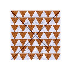 Triangle2 White Marble & Rusted Metal Acrylic Tangram Puzzle (4  X 4 ) by trendistuff