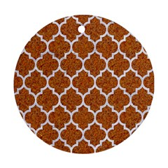 Tile1 White Marble & Rusted Metal Ornament (round) by trendistuff