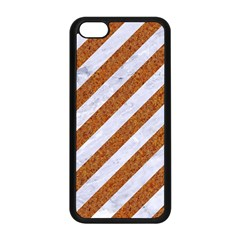 Stripes3 White Marble & Rusted Metal (r) Apple Iphone 5c Seamless Case (black) by trendistuff