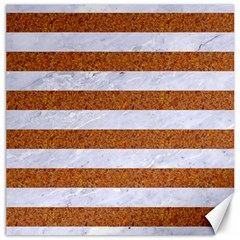 Stripes2white Marble & Rusted Metal Canvas 12  X 12   by trendistuff