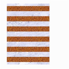 Stripes2white Marble & Rusted Metal Large Garden Flag (two Sides) by trendistuff