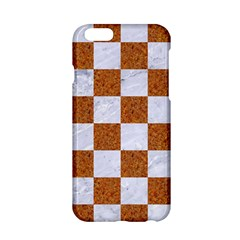 Square1 White Marble & Rusted Metal Apple Iphone 6/6s Hardshell Case by trendistuff