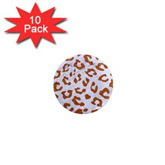 Skin5 White Marble & Rusted Metal 1  Mini Magnet (10 Pack)  by trendistuff