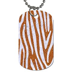 Skin4 White Marble & Rusted Metal (r) Dog Tag (one Side) by trendistuff