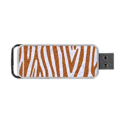 Skin4 White Marble & Rusted Metal Portable Usb Flash (two Sides) by trendistuff