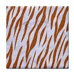 Skin3 White Marble & Rusted Metal (r) Tile Coasters by trendistuff