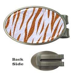 Skin3 White Marble & Rusted Metal (r) Money Clips (oval)  by trendistuff