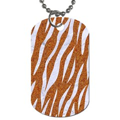 Skin3 White Marble & Rusted Metal Dog Tag (one Side) by trendistuff