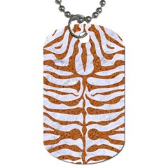 Skin2 White Marble & Rusted Metal (r) Dog Tag (one Side) by trendistuff