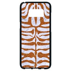 Skin2 White Marble & Rusted Metal (r) Samsung Galaxy S8 Black Seamless Case by trendistuff