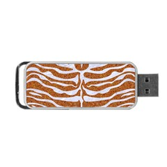 Skin2 White Marble & Rusted Metal Portable Usb Flash (two Sides) by trendistuff