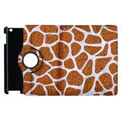 Skin1 White Marble & Rusted Metal (r) Apple Ipad 2 Flip 360 Case by trendistuff