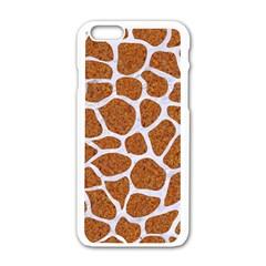 Skin1 White Marble & Rusted Metal (r) Apple Iphone 6/6s White Enamel Case by trendistuff
