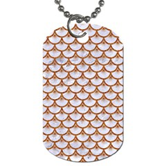 Scales3 White Marble & Rusted Metal (r) Dog Tag (one Side) by trendistuff