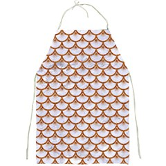 Scales3 White Marble & Rusted Metal (r) Full Print Aprons by trendistuff