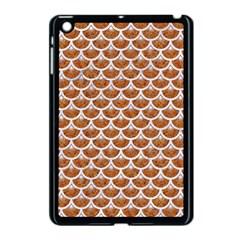 Scales3 White Marble & Rusted Metal Apple Ipad Mini Case (black) by trendistuff