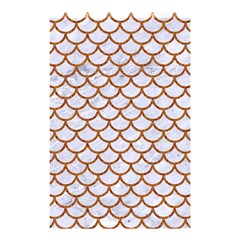 Scales1 White Marble & Rusted Metal (r) Shower Curtain 48  X 72  (small)  by trendistuff
