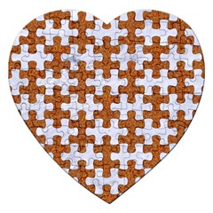 Puzzle1 White Marble & Rusted Metal Jigsaw Puzzle (heart) by trendistuff