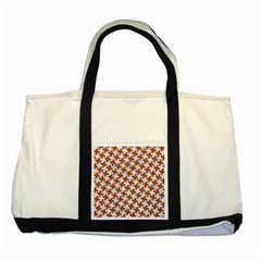 Houndstooth2 White Marble & Rusted Metal Two Tone Tote Bag by trendistuff