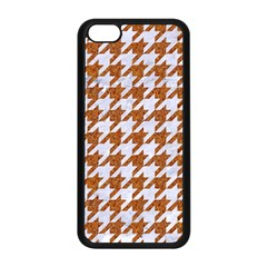 Houndstooth1 White Marble & Rusted Metal Apple Iphone 5c Seamless Case (black) by trendistuff
