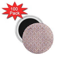 Hexagon1 White Marble & Rusted Metal (r) 1 75  Magnets (100 Pack)  by trendistuff