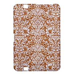 Damask2 White Marble & Rusted Metal Kindle Fire Hd 8 9  by trendistuff