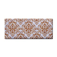 Damask1 White Marble & Rusted Metal (r) Cosmetic Storage Cases by trendistuff