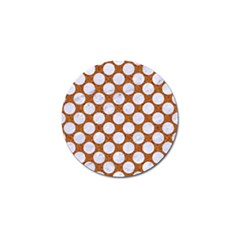Circles2 White Marble & Rusted Metal Golf Ball Marker (10 Pack) by trendistuff
