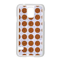 Circles1 White Marble & Rusted Metal (r) Samsung Galaxy S5 Case (white) by trendistuff