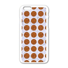 Circles1 White Marble & Rusted Metal (r) Apple Iphone 6/6s White Enamel Case by trendistuff