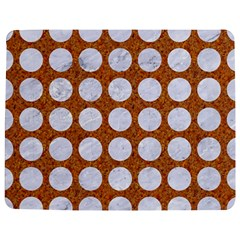 Circles1 White Marble & Rusted Metal Jigsaw Puzzle Photo Stand (rectangular) by trendistuff