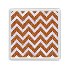 Chevron9 White Marble & Rusted Metal Memory Card Reader (square)  by trendistuff