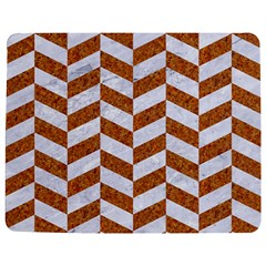 Chevron1 White Marble & Rusted Metal Jigsaw Puzzle Photo Stand (rectangular) by trendistuff