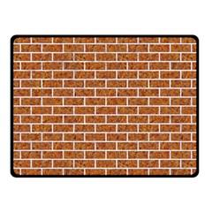 Brick1 White Marble & Rusted Metal Fleece Blanket (small) by trendistuff