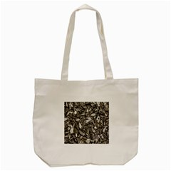 Black And White Leaves Pattern Tote Bag (cream) by dflcprints