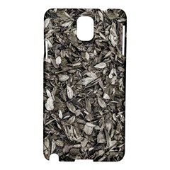 Black And White Leaves Pattern Samsung Galaxy Note 3 N9005 Hardshell Case by dflcprints